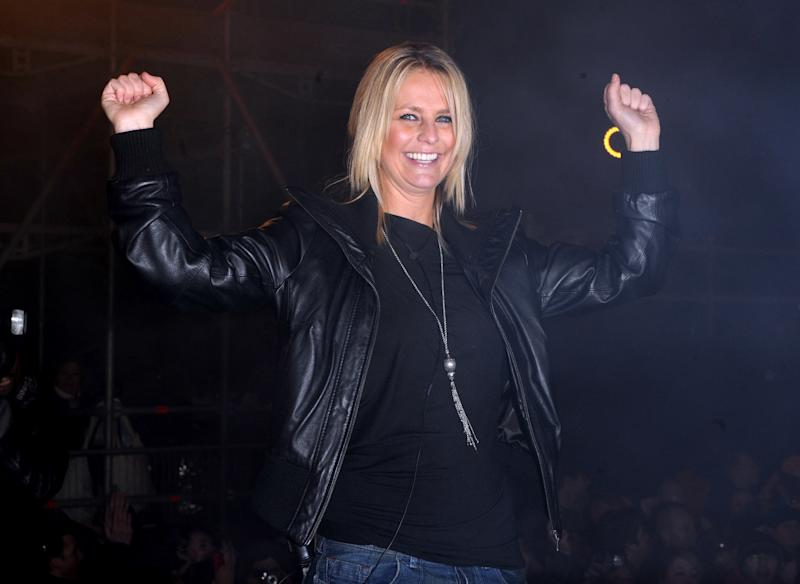 Winner of Celebrity Big Brother Ulrika Jonsson leaves the house at the Celebrity Big Brother Final, at Elstree Studios, Borehamwood, Hertfordshire.