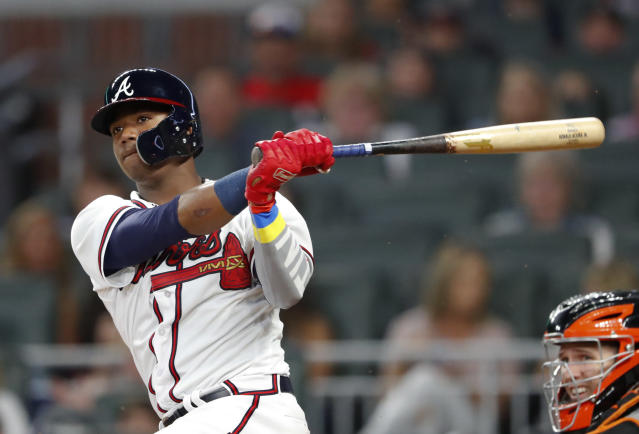 Ronald Acuna Jr. is now in the mix for the Braves. (AP)