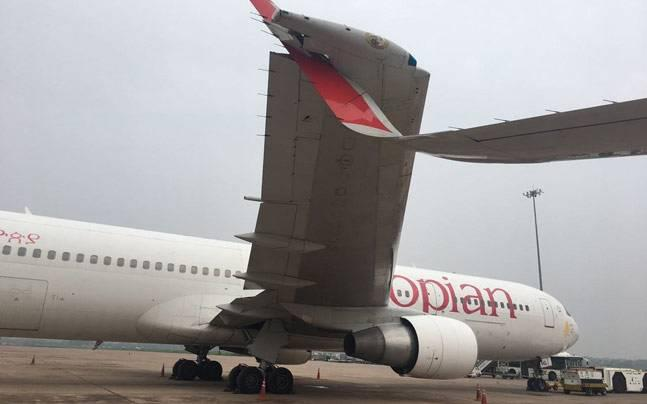 Ethiopian Airlines' plane clips wings with Air India aircraft at IGI Airport