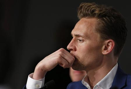 """Cast member Tom Hiddleston attends a news conference for the film """"Only Lovers Left Alive"""" during the 66th Cannes Film Festival"""