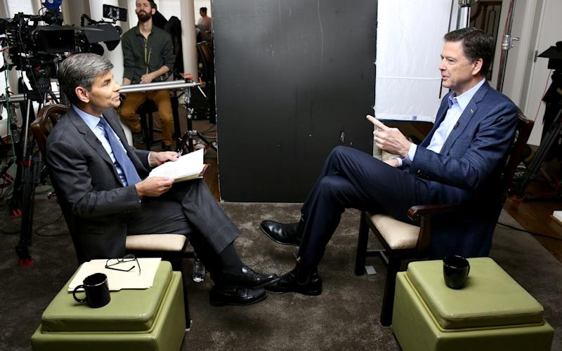 James Comey gave a five-hour interview to George Stephanopoulos of ABC News - Disney ABC Television Group