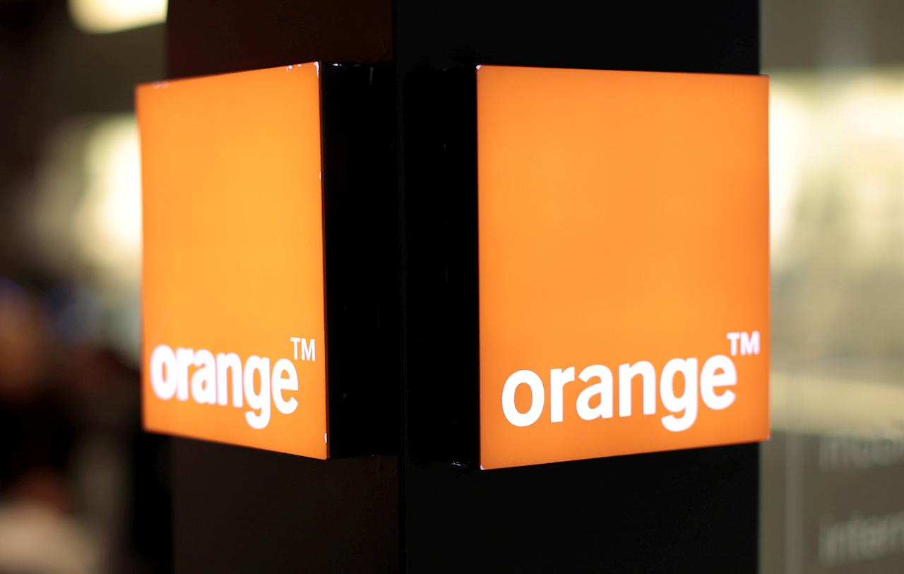 FILE PHOTO: An Orange logo is seen in a phone shop of a shopping centre in Nice, southern France, March 8, 2016.    REUTERS/Eric Gaillard/File Photo                       GLOBAL BUSINESS WEEK AHEAD    SEARCH GLOBAL BUSINESS 24 APR FOR ALL IMAGES