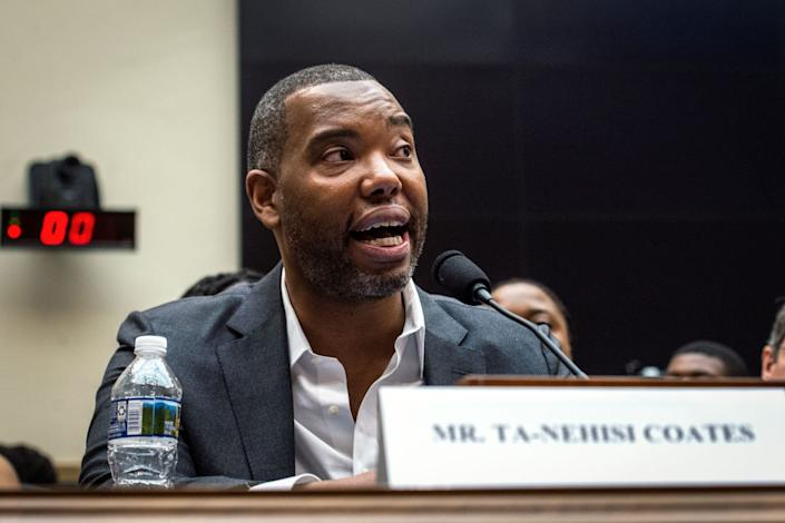 UNITED STATES -  JUNE 19: Author Ta-Nehisi Coates testifies about reparations for the descendants of slaves during a hearing before the House Judiciary Subcommittee on the Constitution, Civil Rights and Civil Liberties, at the Capitol in Washington on Wednesday June 19, 2019. (Photo by Caroline Brehman/CQ Roll Call)
