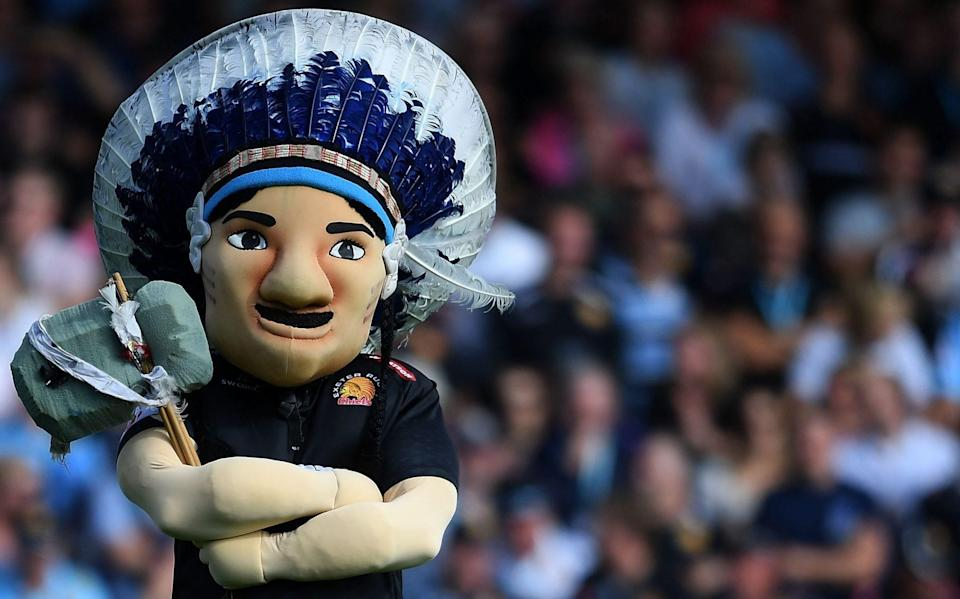Big Chief - Wasps call for sport-wide ban on Native American headdresses worn by Exeter Chiefs fans - GETTY IMAGES