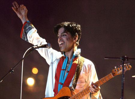 FILE PHOTO: Prince of the US performs on stage at the Brit Awards at the Earls Court Arena in central London