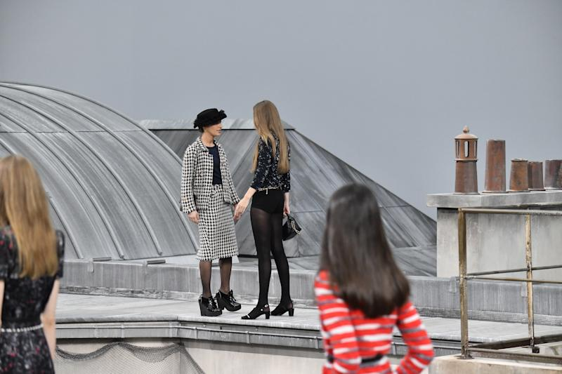 The crasher in action at Chanel