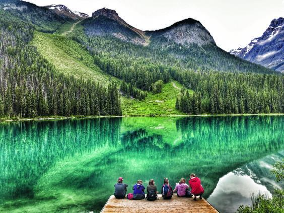 Canadian Rockies adventure is ideal for a female solo traveller (Trek America Lake Louise)