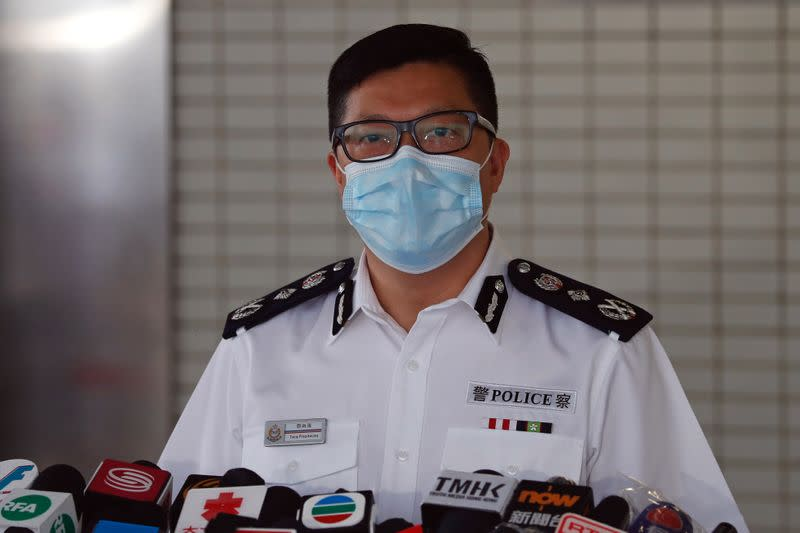 FILE PHOTO: Hong Kong's Commissioner of Police Chris Ping-keung Tang attends a news conference in Hong Kong