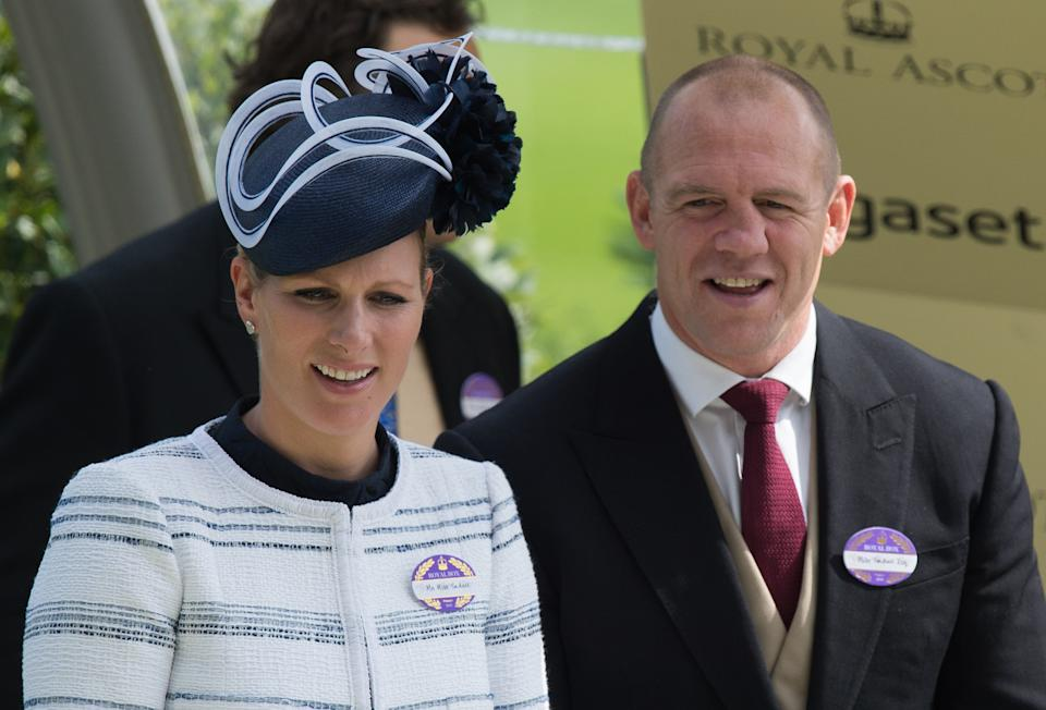 ASCOT, ENGLAND - JUNE 19:  Zara Phillips and Mike Tindall attend day 4 of Royal Ascot at Ascot Racecourse on June 19, 2015 in Ascot, England.  (Photo by Samir Hussein/WireImage)