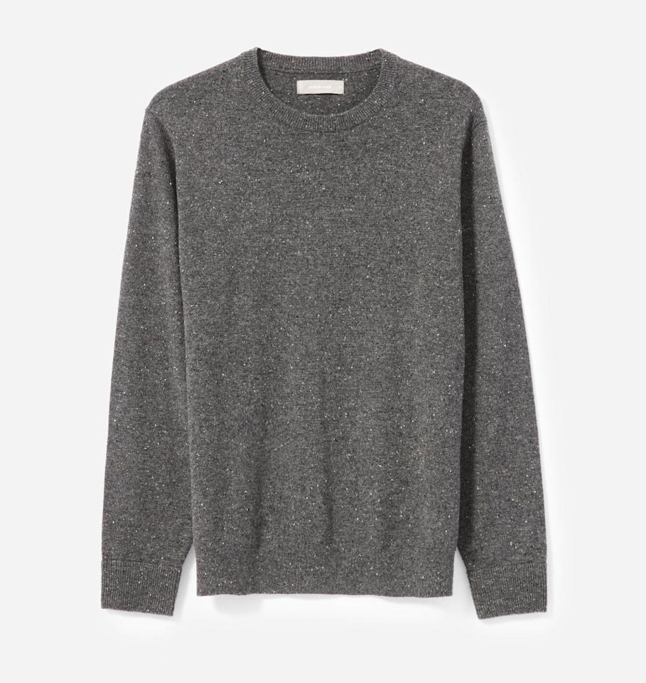 "<p>You can't go wrong with a classic crewneck sweater made of 100 percent cashmere. Without compromising on quality, the folks at Everlane have constructed a soft yet durable wardrobe essential you know he'll wear all year long. <br /><strong><a rel=""nofollow"" href=""https://fave.co/2SV69hi"">Shop it</a>:</strong> $100, <a rel=""nofollow"" href=""https://fave.co/2SV69hi"">everlane.com</a> </p>"