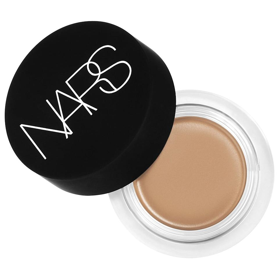 "<p>Here's the exact concealer I used - <a href=""https://www.popsugar.com/buy/Nars-Soft-Matte-Complete-Concealer-556444?p_name=Nars%20Soft%20Matte%20Complete%20Concealer&retailer=sephora.com&pid=556444&price=30&evar1=bella%3Aus&evar9=47302182&evar98=https%3A%2F%2Fwww.popsugar.com%2Fbeauty%2Fphoto-gallery%2F47302182%2Fimage%2F47303191%2FNars-Soft-Matte-Complete-Concealer&list1=sephora%2Clipstick%2Cconcealer%2Cbeauty%20hacks&prop13=mobile&pdata=1"" rel=""nofollow"" data-shoppable-link=""1"" target=""_blank"" class=""ga-track"" data-ga-category=""Related"" data-ga-label=""http://www.sephora.com/product/soft-matte-complete-concealer-P416200"" data-ga-action=""In-Line Links"">Nars Soft Matte Complete Concealer</a> ($30) in Caramel - but I think any one with a similar consistency would work.</p>"