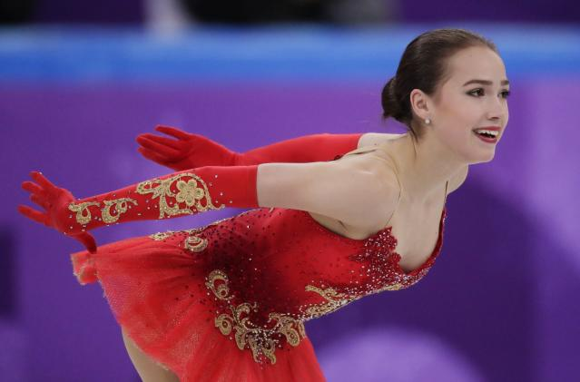 <p>Alina Zagitova hasn't garnered the same attention as teammate Evgenia Medvedeva, but could be one of Medvedeva's biggest obstacles to Olympic gold. Zagitova took first in the team event's women's free program more than 20 points ahead of Mirai Nagasu. </p>