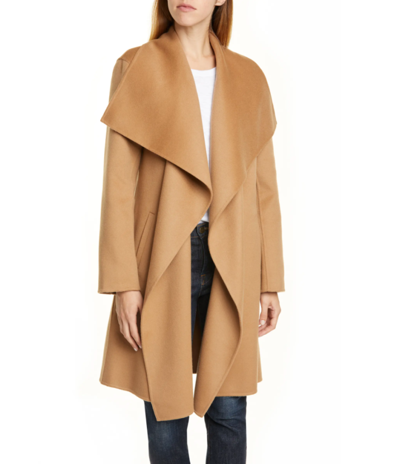 Nordstrom Signature Wool & Cashmere Coat in Tan Camel (Photo via Nordstrom)