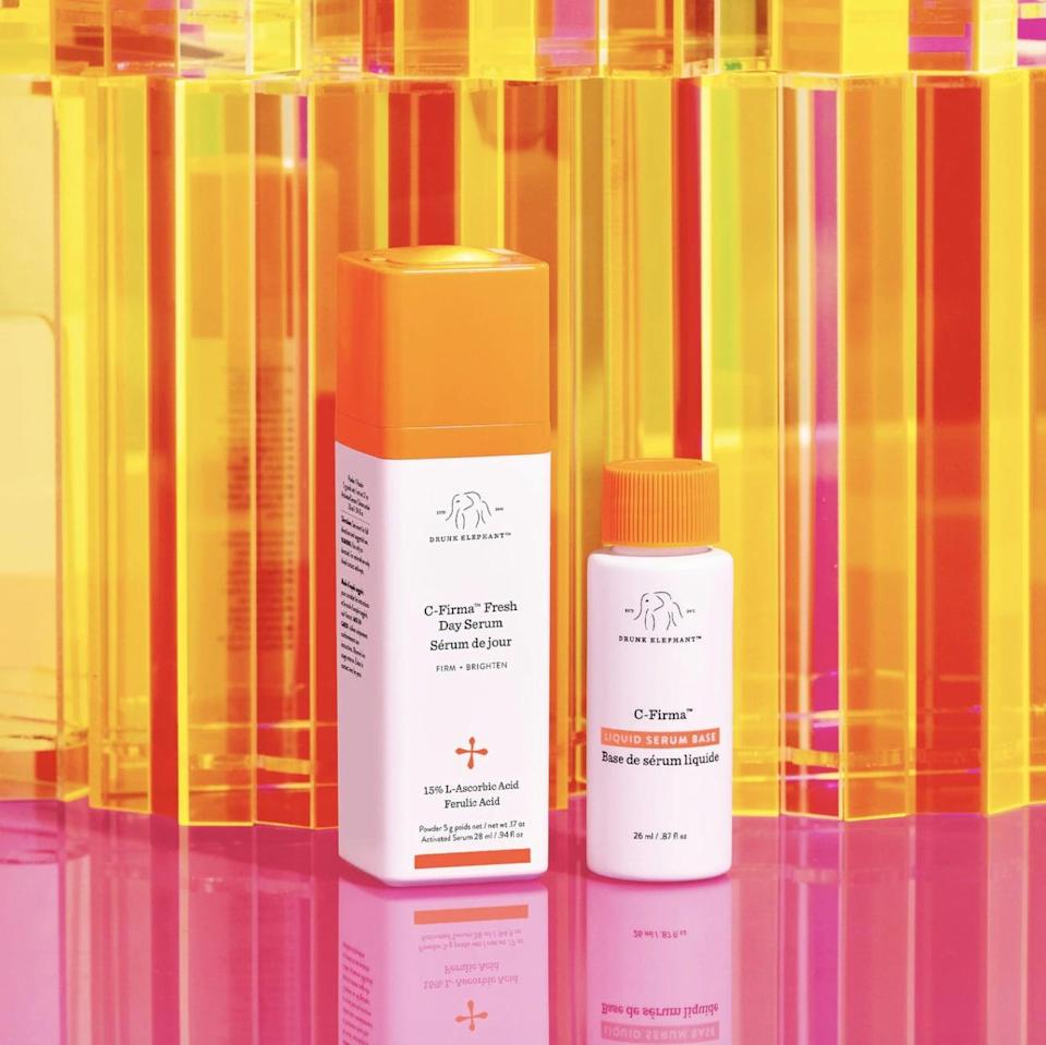 """<p>The brand's new <span>Drunk Elephant C-Firma Fresh Day Serum</span> ($78) was created with a longer shelf life in mind. It uses the same blend of potent ingredients you'd find in the original, only <em>you</em> choose when you're ready to use it by mixing one bottle's ingredients with the other's. </p> <p>""""By separating the formula of C-Firma into two phases, one phase being the liquid serum base and other being the active vitamin C, the user is able to choose the moment of 'activation' for their C-Firma Fresh, which happens when they mix the two phases together,"""" founder Tiffany Masterson told POPSUGAR. """"That means no more color shifts and no wondering how much time your C-Firma will remain at its most potent.""""</p>"""