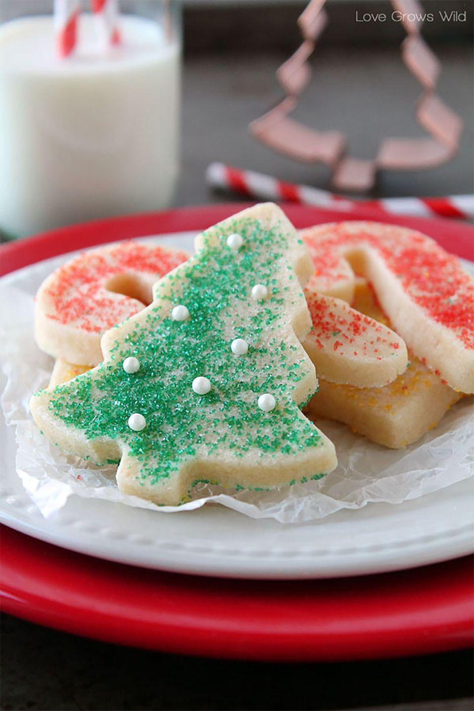 "<p>Santa won't be able to resist grabbing a few more of these delicious cookies. </p><p><strong>Get the recipe at <a href=""http://lovegrowswild.com/2013/12/perfect-sugar-cookie-cut-outs/"" rel=""nofollow noopener"" target=""_blank"" data-ylk=""slk:Love Grows Wild"" class=""link rapid-noclick-resp"">Love Grows Wild</a>.</strong></p>"