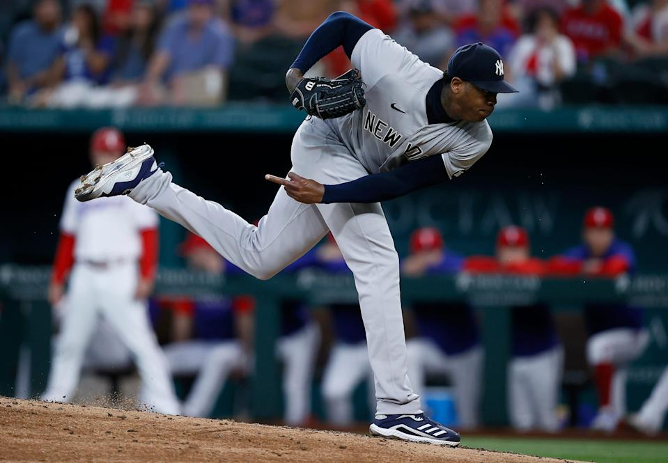 New York Yankees closer Aroldis Chapman is the most dominant closer in the game right now.
