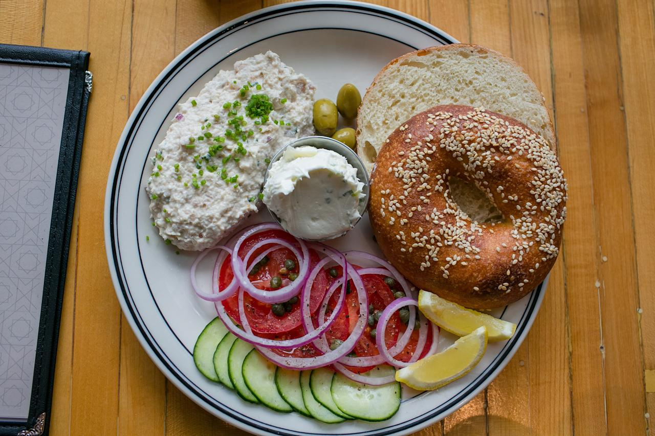 Mamaleh's gives the time-honored tradition of the Jewish deli an enlivening reboot, right on Kendall Square. Mamaleh's baked goods are some of the best in the city, and you'll have to walk up to the takeout counter to see what's in store that day. (Don't miss the moist, rich chocolate rugelach.) Savory cheese blintzes and potato latkes shine as sides, and you'll need to invest in a fish plate with all the fixings. Of the seven choices, the house lox (brined not smoked) is a staple, served with a bagel or bialy, cream cheese (get the scallion), and all the trappings.