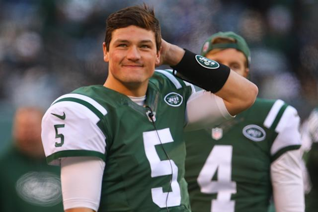 Christian Hackenberg never threw an NFL pass, but will get a second chance in the Alliance of American Football. (Getty)