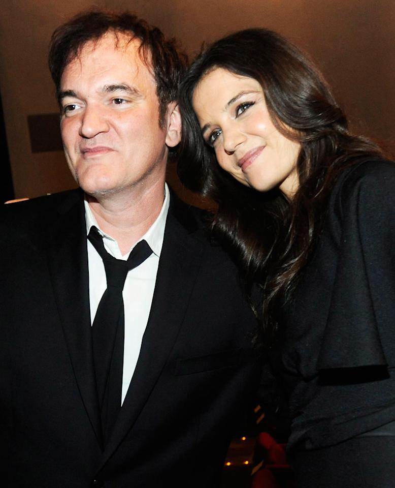 Quentin Tarantino and Katie Holmes attend The Museum of Modern Art 5th annual Film Benefit honoring Quentin Tarantino at MOMA on December 3, 2012 in New York City.