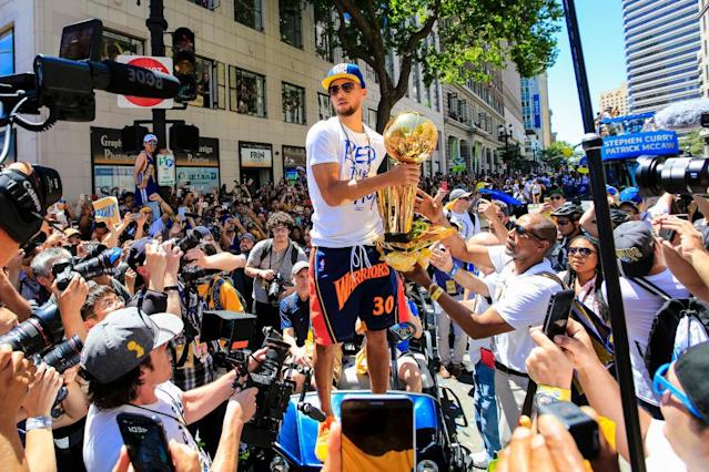 Not everybody's too keen on sketching out another Warriors parade route before we even hit July 4. (Getty)