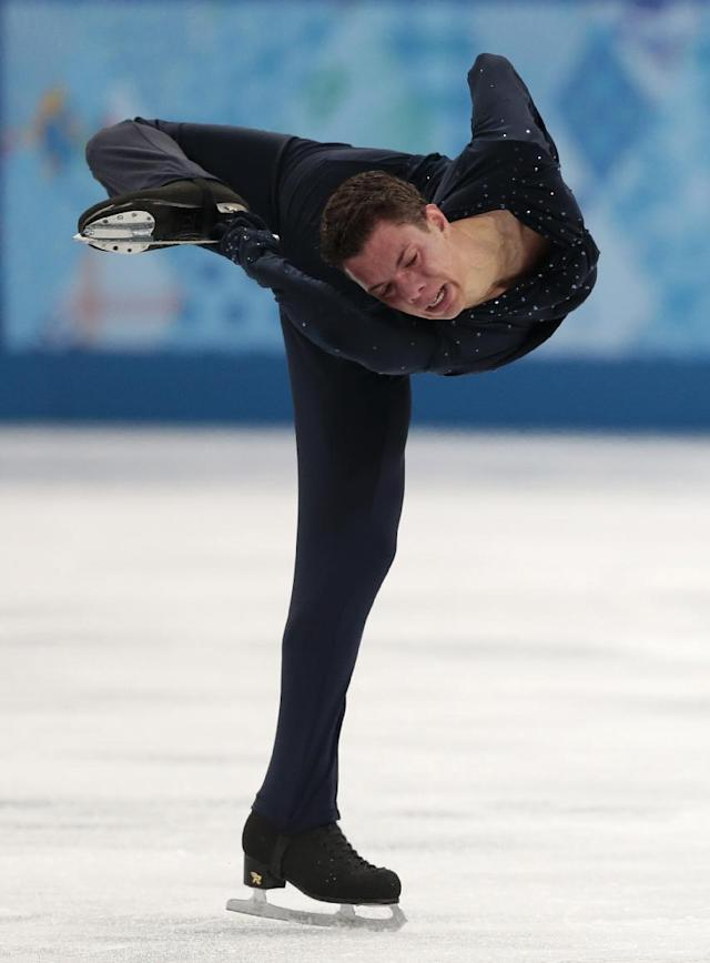 Jorik Hendrickx of Belgium competes in the men's free skate figure skating final at the Iceberg Skating Palace during the 2014 Winter Olympics, Friday, Feb. 14, 2014, in Sochi, Russia