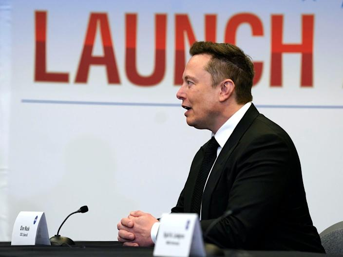 Tesla and SpaceX Chief Executive Officer Elon Musk speaks during a round table discussion with President Donald Trump at Kennedy Space Center, Wednesday, May 27, 2020, in Cape Canaveral, Florida.