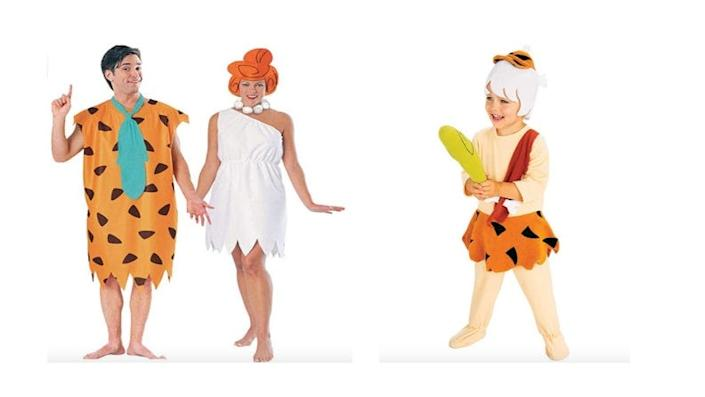 Dress the whole gang as everyone's favorite Stone Age family.