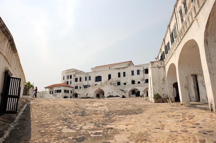 Cape Coast Castle is a fortress used to confine Africans in Ghana before they were shipped abroad in the trans-Atlantic slave trade. Between 1513 and the end of the 19th century, when the slave trade ended, some 24 million Africans were shipped to the Americas by English, Portuguese, French and Dutch traders.