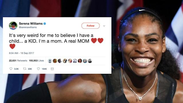 "Throughout her pregnancy and after giving birth, tennis great and new mom Serena Williams has had several moments that had fellow parents saying to themselves, ""I've totally been there."""