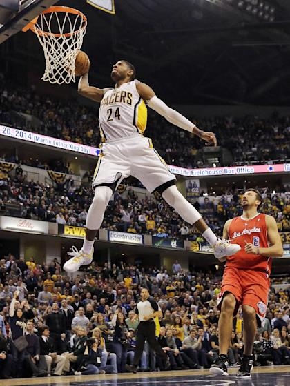Paul George's 360-windmill was the dunk of the year in 2013-14. (AP Photo/AJ Mast, File)