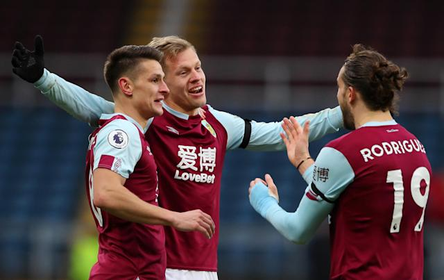Burnley players celebrate: Getty Images