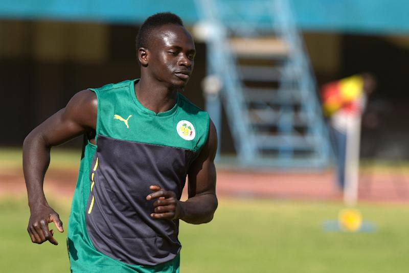 Senegal's Sadio Mane takes part in a training session in Dakar on January 4, 2017 ahead of the Africa Cup of Nations in Gabon