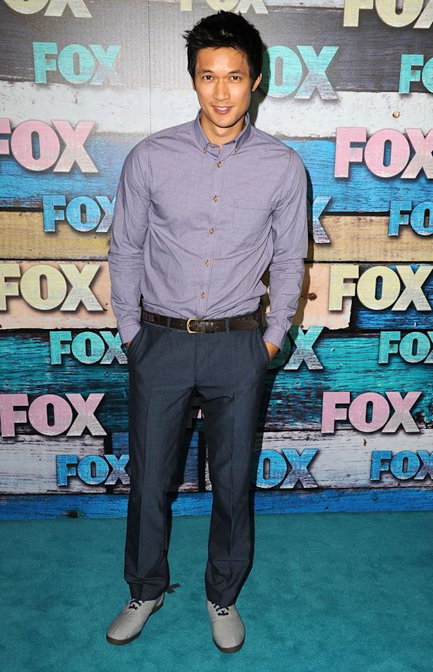 "Harry Shum Jr. (""Glee"") arrives at the Fox Summer 2012 All-Star Party on July 23, 2012 at the Soho House in West Hollywood, California."