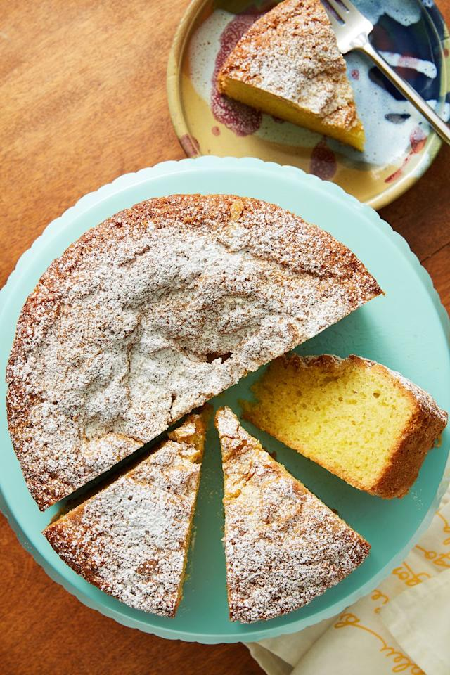 """<p>This is the most tender cake EVER.</p><p>Get the recipe from <a href=""""https://www.delish.com/cooking/recipe-ideas/a31789821/olive-oil-cake-recipe/"""" target=""""_blank"""">Delish. </a></p>"""