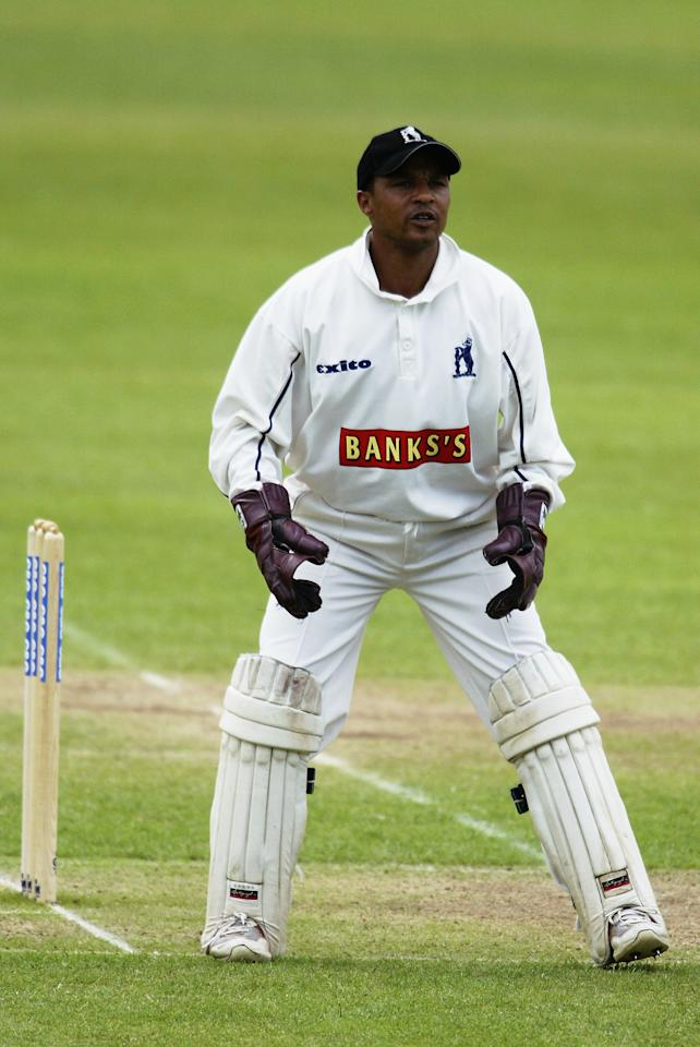 BIRMINGHAM - JUNE 11:  Keith Piper of Warwickshire in action during the Cheltenham and Gloucester Quarter-Final match between Warwickshire and Gloucestershire held on June 11, 2003 at Edgbaston, in Birmingham, England. (Photo by Stu Forster/Getty Images)