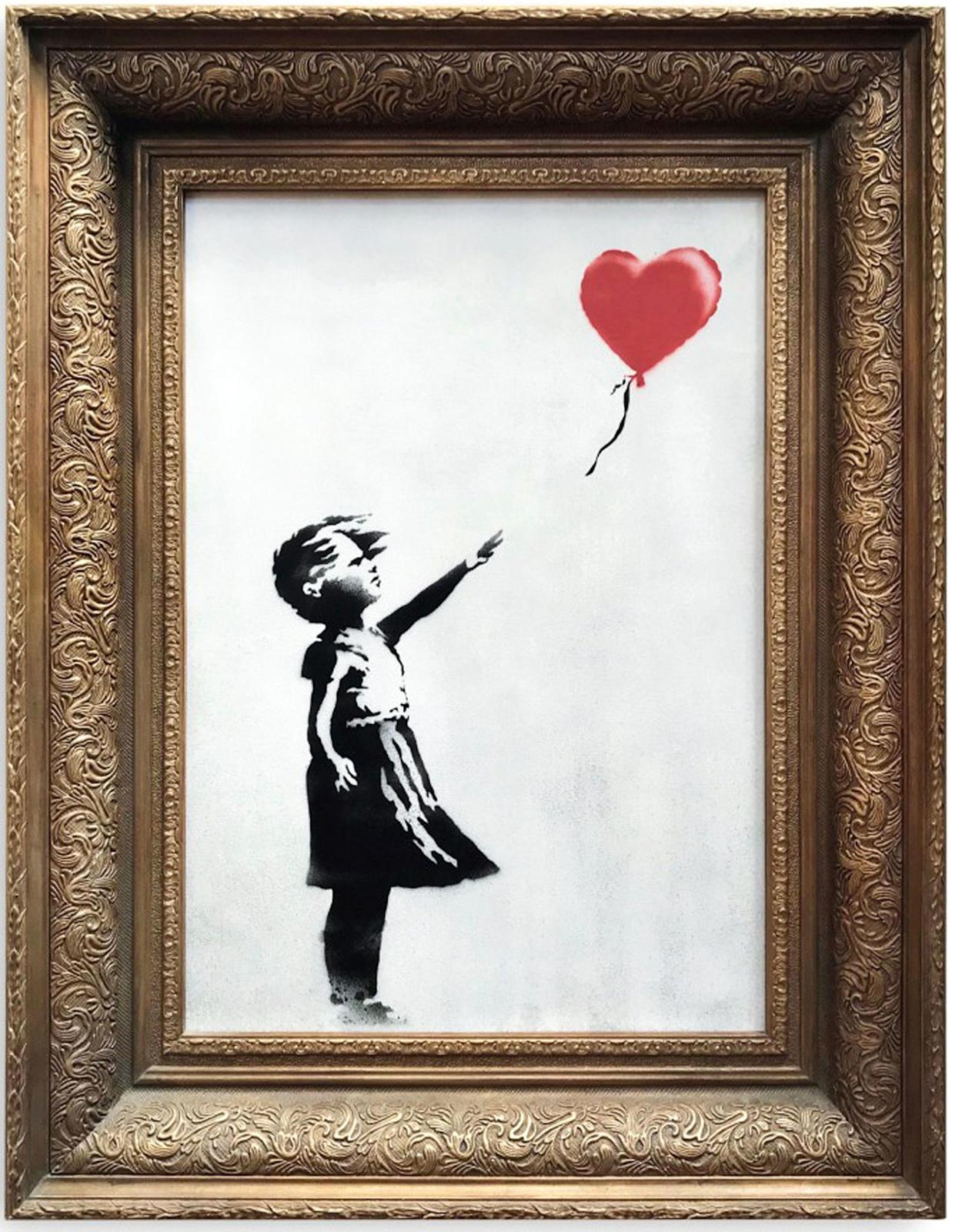<em>Sale – Girl with Balloon had just sold for £1.04m at Sotheby's (Picture: PA)</em>