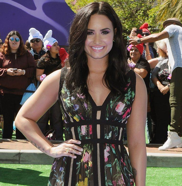 Demi Lovato arrives at the Los Angeles premiere of