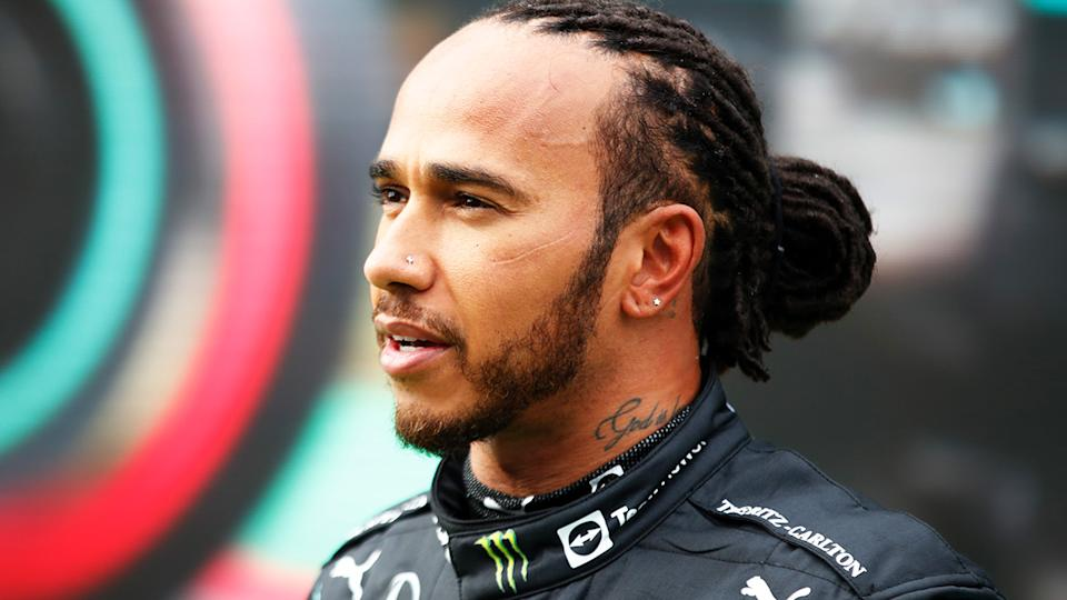 Mercedes F1 driver Lewis Hamilton blamed his team for a strategy call that cost him third place in the Turkish GP. (Photo by Umit Bektas - Pool/Getty Images)