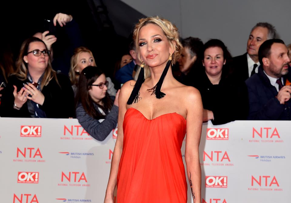 Sarah Harding thanked fans for their support. (PA Images)
