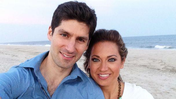 PHOTO: ABC News' chief meteorologist Ginger Zee is photographed here with her husband, Ben Aaron, in this undated family photo. (Ginger Zee )