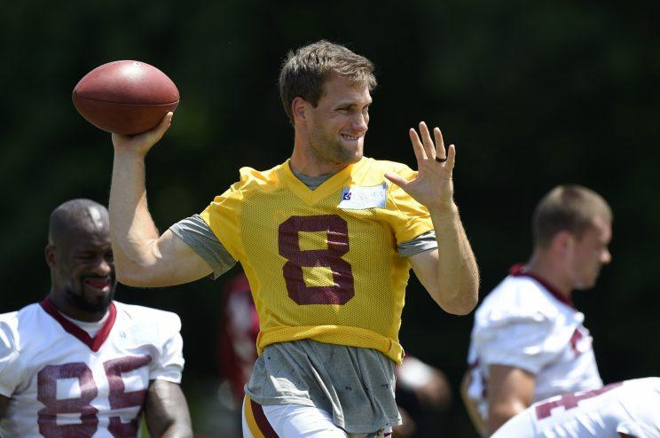 Kirk Cousins will play this season on the franchise tag. (AP)