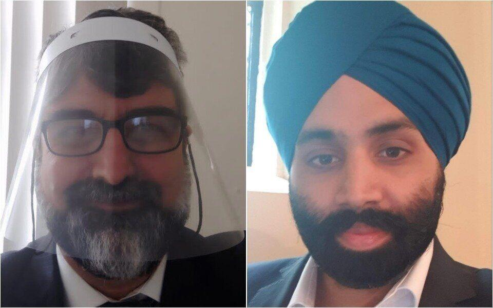 Cardiologist Dr Amer Hamed and, right, Dr Gaggandeep Singh Alg, president of the British Sikh Doctors' Association (Photo: )