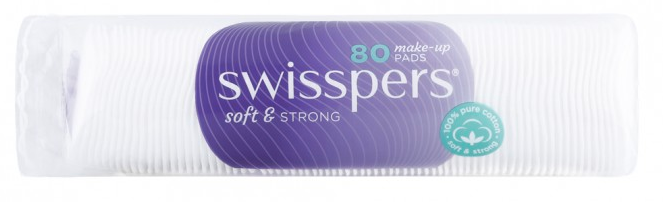 Swisspers Make-up Pads 80 Pack