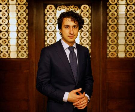 Dutch Green Party (Groen Links) leader Jesse Klaver speaks to Reuters during an interview about the 2017 Dutch election in the Hague, Netherlands, March 8, 2017. Picture taken March 8, 2017. REUTERS/Michael Kooren