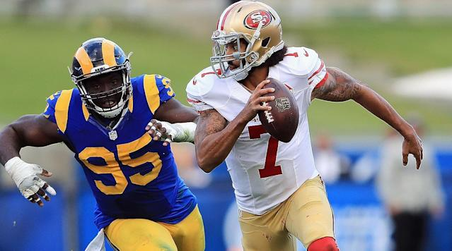 Free-agent quarterback Colin Kaepernick's political statements have clouded his pursuit of an offer from an NFL team this off-season.