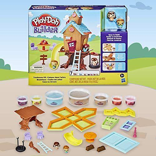 """<p><strong>Play-Doh</strong></p><p>amazon.com</p><p><strong>$10.49</strong></p><p><a href=""""https://www.amazon.com/dp/B083YP32PK?tag=syn-yahoo-20&ascsubtag=%5Bartid%7C10055.g.28133058%5Bsrc%7Cyahoo-us"""" rel=""""nofollow noopener"""" target=""""_blank"""" data-ylk=""""slk:Shop Now"""" class=""""link rapid-noclick-resp"""">Shop Now</a></p><p>When she seems like she past prime Play-Doh age, this set gives the compound another dimension. <strong>She can build her own treehouse out of Play-Doh, and then personalize it</strong> with windows, doors and even a slide. It comes with seven colors of compound and two figures to play with. <em>Ages 5+</em></p>"""