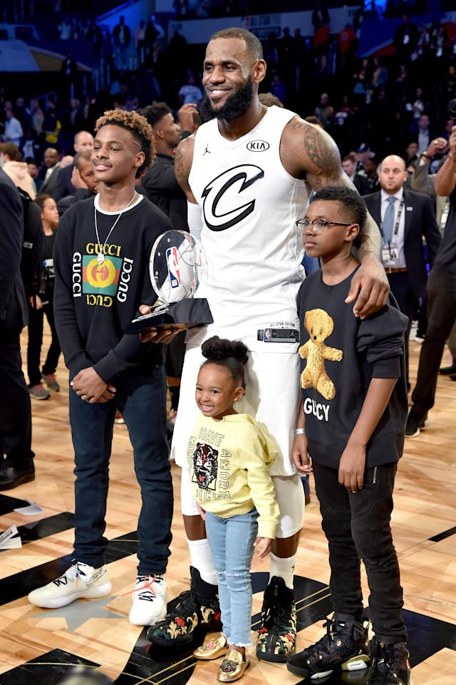 LeBron James said his daughter, Zhuri, was taking inspiration from the women of color featured on magazine covers. (Photo: Kevin Mazur/WireImage)