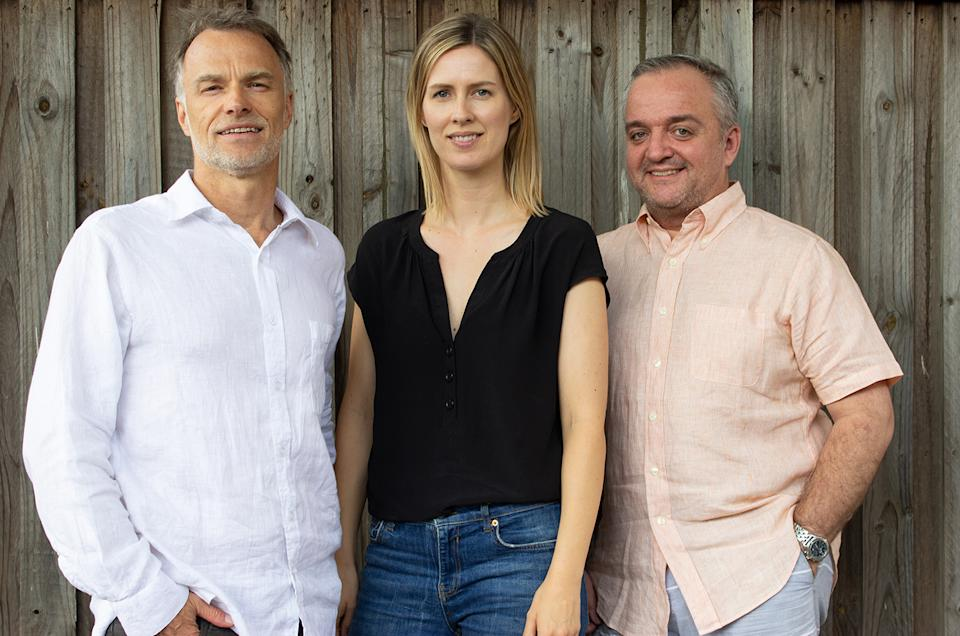 Tim Nicholas, Silje Dreyer and David Wareing launched money-saving app GetReminded. Image: Supplied
