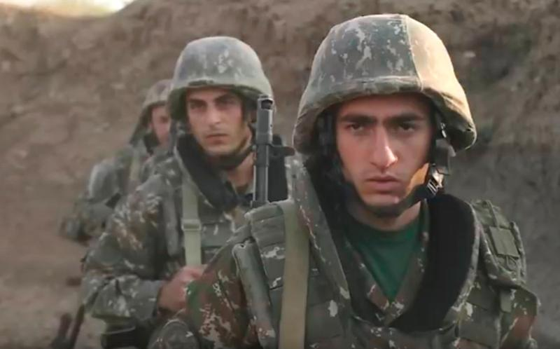 Armenian soldiers in the self-proclaimed Nagorno-Karabakh Republic (EPA)