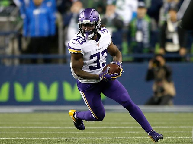 Dalvin Cook immediately walked to the locker room after suffering a shoulder injury vs. the Seahawks. (Otto Greule Jr/Getty Images)